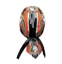 Just Ride Eagle Black Orange Flames Durag Headwrap Skull Cap Sweatband Capsmith