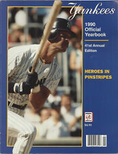 1990  New York Yankees Official Yearbook
