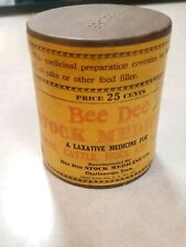 Bee Dee Stock & Poultry Medicine Advertising Tin Horse Cow Cattle Pigs Nmint Tn