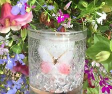 Made 2 Order Bespoke Gel Candles: Butterfly & Diamonds.Choose Your Scent.Wrapped