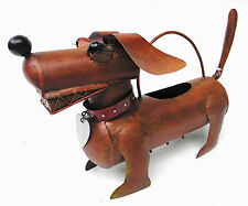 WATERING CANS - DACHSHUND WATERING CAN - METAL WATERING CAN - GARDEN DECOR