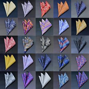 50 Colors Men Pocket Square Silk Paisley Handkerchief Floral Hanky Wedding Party