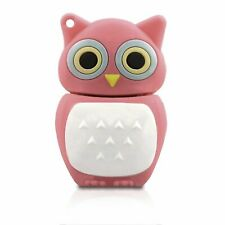 32Gb Pink Owl Cute Wild Birds USB Drive Memory Stick Flash Drive Novelty Gift