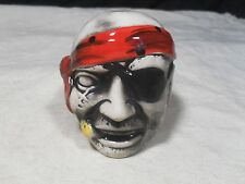 Decorative ~ Pirate Head/Face Bank w/ Patch and Scarf (#2)