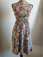 Colourful Floral Women's Dress Size L