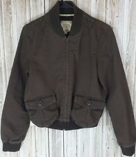 Old Navy Women's Zip-Up Jacket w/Button-Up Pockets (M, Brown)