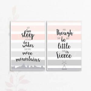 Inspirational Positive Motivational Quotes Nursery Wall Art Home A4 A3 Print set