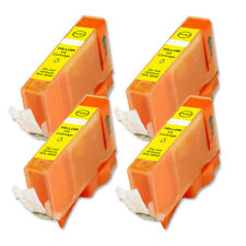 4 YELLOW New Ink Tank + Chip for CLI-221Y MP640 MX860 MX870 MP980 MP990