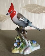 ROYAL DOULTON ADDERLEY BIRD RED CRESTED CARDINAL SINGLE ON BRANCH FLOWERS VGC