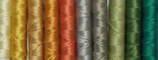 SILKA - fil à broder, cordonnet soie naturelle, lot de 10, coloris assortis P007