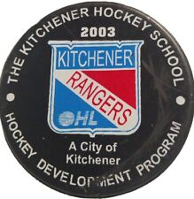 2003 KITCHENER RANGERS OHL OFFICIAL HOCKEY PUCK LINDSAY MFG. MADE IN CANADA 🇨🇦