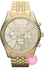 MICHAEL KORS LEXINGTON MK8281 CHRONOGRAPH MENS WATCH CHAMPAGNE DIAL 3YR WARRANTY