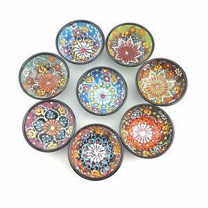 Traditional Turkish Hand Painted Bowl - Snack ,Jewellery, 8 cm Mandala 2