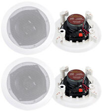 4) New PYLE PRO PDIC61RD 6.5'' White 400W 2-Way In-Ceiling/Wall Speakers System