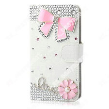Hot Sale Bling Crystal PU Leather Flip Wallet Case Stand Cover Skins For Lenovo