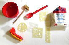 Lot d'outils créatif Plâtre Mako moulage, Pochoir, Coupelle, Sable Coloré
