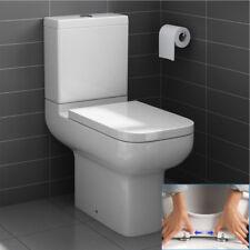 WC Sitz Toilettendeckel ABSENKAUTOMATIK Klodeckel Toilettenbrille Quadratisch