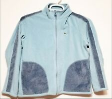 Lacoste Womens Zip-up Sweater Jacket light blue gray EUC Free Shipping