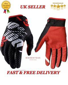 100% Gloves Mtb Motorcross Cycling Bike Vented Gloves Black/Red