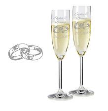 2 Leonardo Sektgläser mit Gravur Ringe 2 graviert Sektglas Name Hochzeit