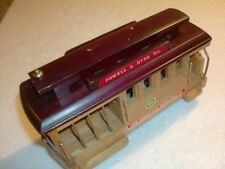 San Francisco Wood Cable Car Vintage Trolley Wind-Up Music Box Souvenir