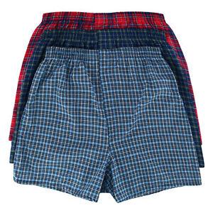 New Fruit of the Loom Men's Extended Sizes Plaid Tartan Boxer Underwear (3 Pack)