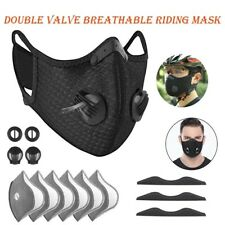 Cycling Face Shield Cover Dual-valve Breathable Activated Carbon Dust Protection