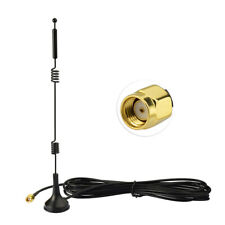 12dBi Dual Band 2.4GHZ 5.8GHz WiFi Wireless Antenna RP-SMA Male Magnetic Base 3m