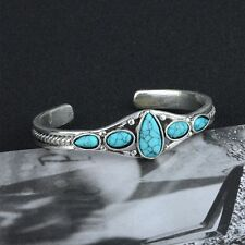 For Cuff Fashion Charm Vintage Jewelry Bracelet Turquoise Bangle Adjustable