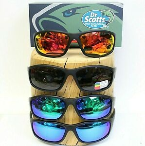 Dr Scotts HD Polarized Cycling Fishing Golf Sunglasses 100% UVA/UVB Protection