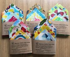 Reusable Beeswax Food Wrap-Set of 4 (Large selection of patterns)