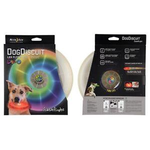 Nite Ize Flashflight Dog Discuit Light Up Dog Flying Disc Disc-O Color LED