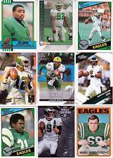 Huge 300 + EAGLES cards lot 1972 - 2017 Wentz Foley White Jaws Montgomery McNabb