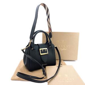 BURBERRY Handbag 108715 Medium buckle tote 2WAY leather/ゴールド金具 Women