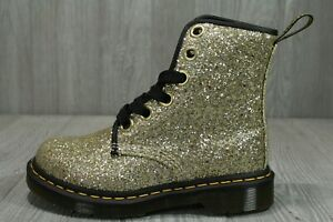59 Dr. Martens 1460 FARRAH Glitter womens Leather boots GOLD MSRP $165 Size 5