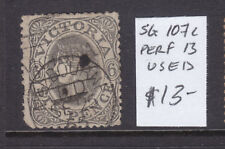 Victoria 6d Emblem Qv Used Sg 107c Perf 13