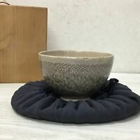 Y1220 CHAWAN Inuyama-ware box hundred arhats Japanese Tea Ceremony bowl pottery