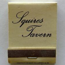 Squires Tavern Restaurant & Bar 3 Edmunds St Darwin 819761 Matchbook (MK27)