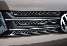 POLISHED CHROME MESH UPPER GRILLE TRIM ACCENTS- VW VOLKSWAGEN T5 TRANSPORTER 10+