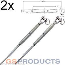 2x 8mm Acero Inoxidable Rigging Tornillo Swage/mandíbula para 4mm Cable De Acero Ajustador