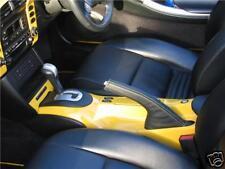 Si adatta Porsche Boxter 996 986 FRENO A MANO Ghetta Yellow Stitch