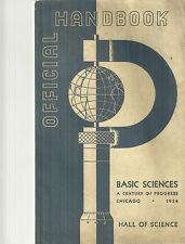 Official Handbook Basic Science Century of Progress Chicago 1934 Hall of Science