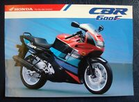 HONDA CBR 600 F MOTOR CYCLE SALES/SPECIFICATION SHEET # 2C012JE:9010