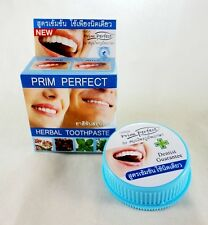 TEETH WHITENING HERBS TOOTHPASTE PRIM PERFECT REDUCE CIGARETTE STAIN COFFEE 25G