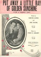 PUT AWAY A LITTLE RAY OF GOLDEN SUNSHINE ~ 1924