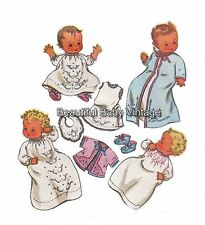 Vintage Baby SEWING PATTERN McCall's Baby Layette Dress Top Bib Bootee 6 months
