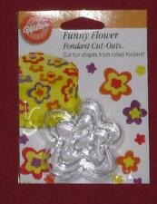 Funny Flower Cut Outs,Wilton,Fondant,Gum Paste Cutter Set,Metal,Silver,3 Pc.
