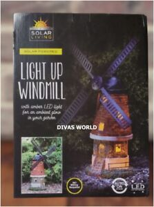 SOLAR POWERED DECORATION WINDMILL LIGHT LED Auto On Lights Outdoor Decorations