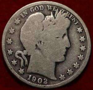 1902-S San Francisco Mint Silver Barber Half Dollar