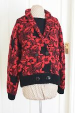 Vintage Reldan size 8-12 Red & Black Shawl collar Wool Mohair Cardy hardly worn